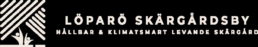 Löparö Skärgårdsby logotyp