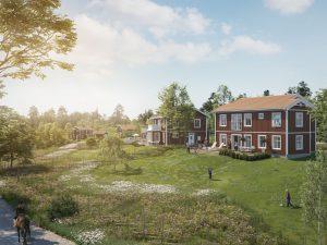 Visionsbild Löparö Skärgårdsby - framtidens boende är skärgården!